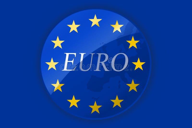 flaga euro royalty ilustracja