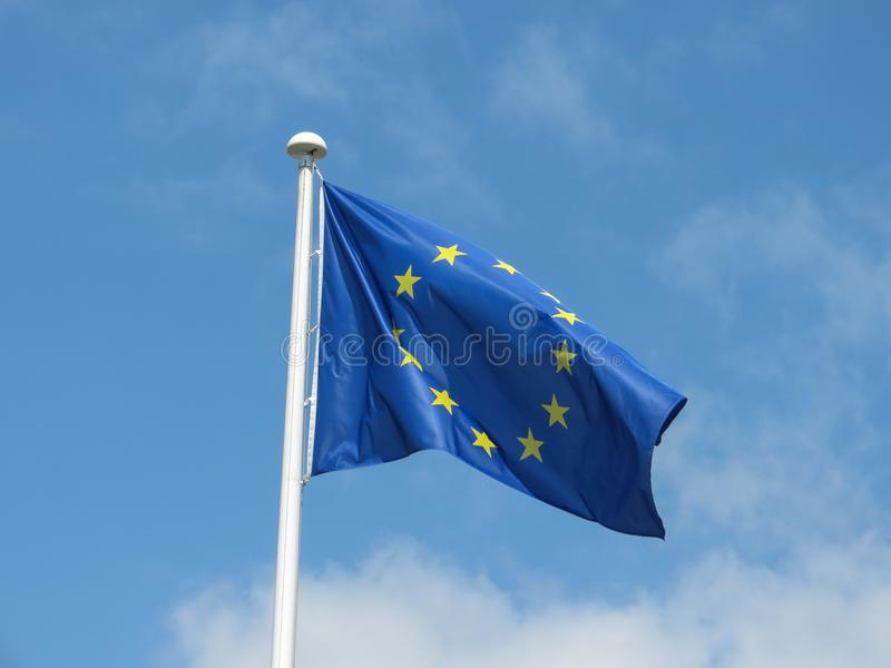 Flaga Europejskiego zjednoczenia UE obraz stock
