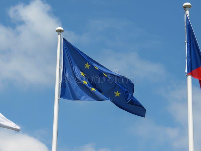 Flaga Europejskiego zjednoczenia UE zdjęcie stock