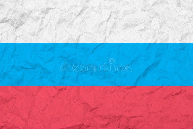 Flaga federacja rosyjska ilustracyjny lelui czerwieni stylu rocznik stara tekstury ściany Zatarty tło ilustracji