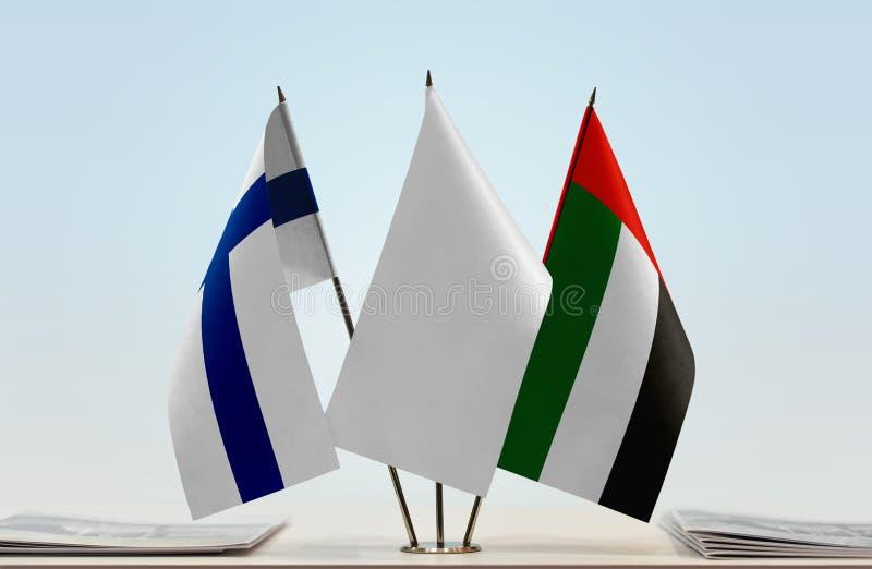 Flaga Finlandia i UAE zdjęcie stock