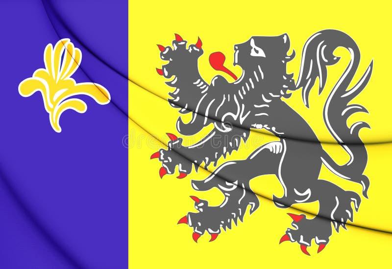 Flaga Flamandzka społeczności prowizja royalty ilustracja