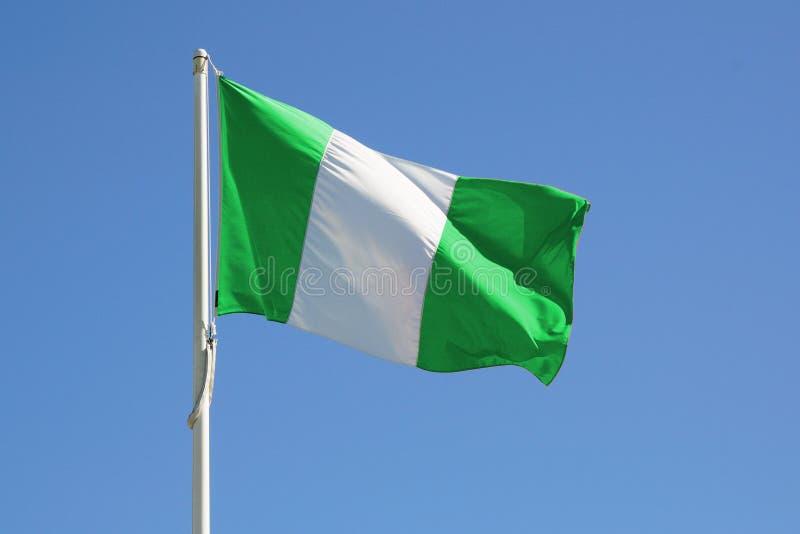 flaga folował Nigeria fotografia stock