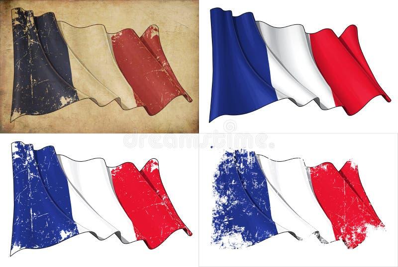Flaga Francja ilustracji