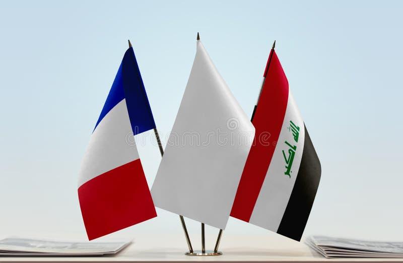 Flaga Francja i Irak obrazy stock