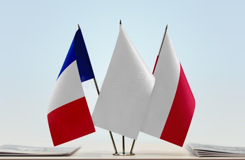 Flaga Francja i Polska zdjęcia royalty free