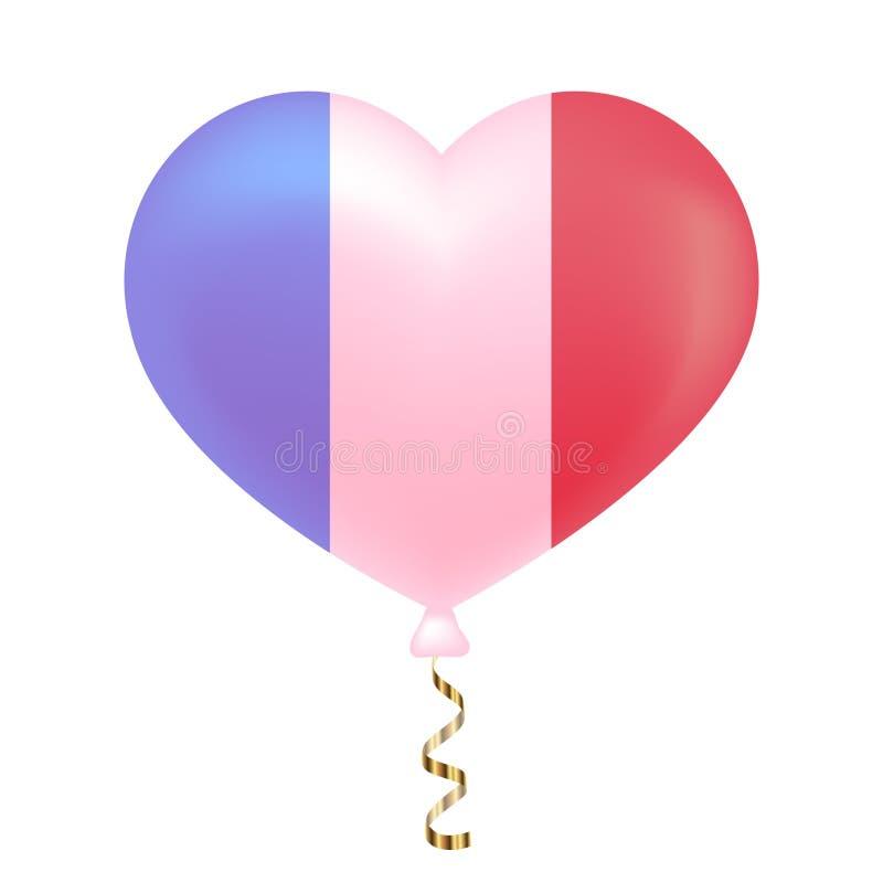 Flaga Francja w kierowym kształcie royalty ilustracja