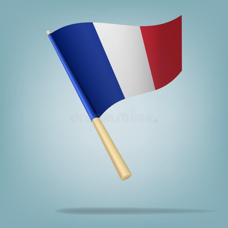 Flaga Francja. wektorowa ilustracja ilustracja wektor
