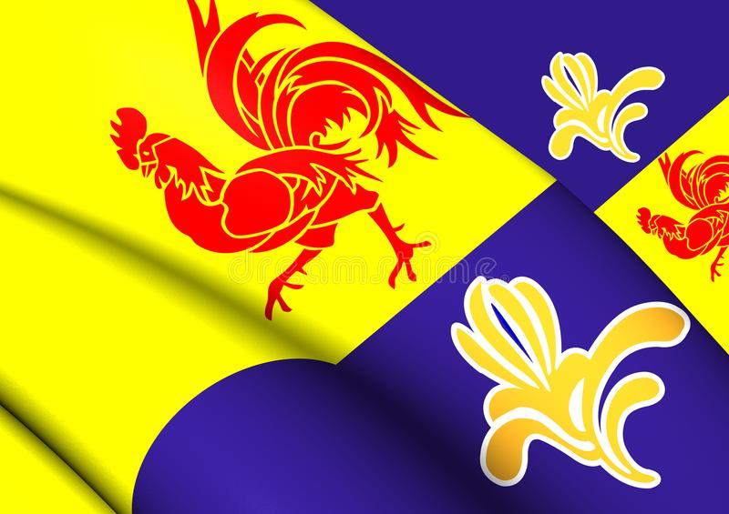 Flaga Francuskiej społeczności prowizja royalty ilustracja