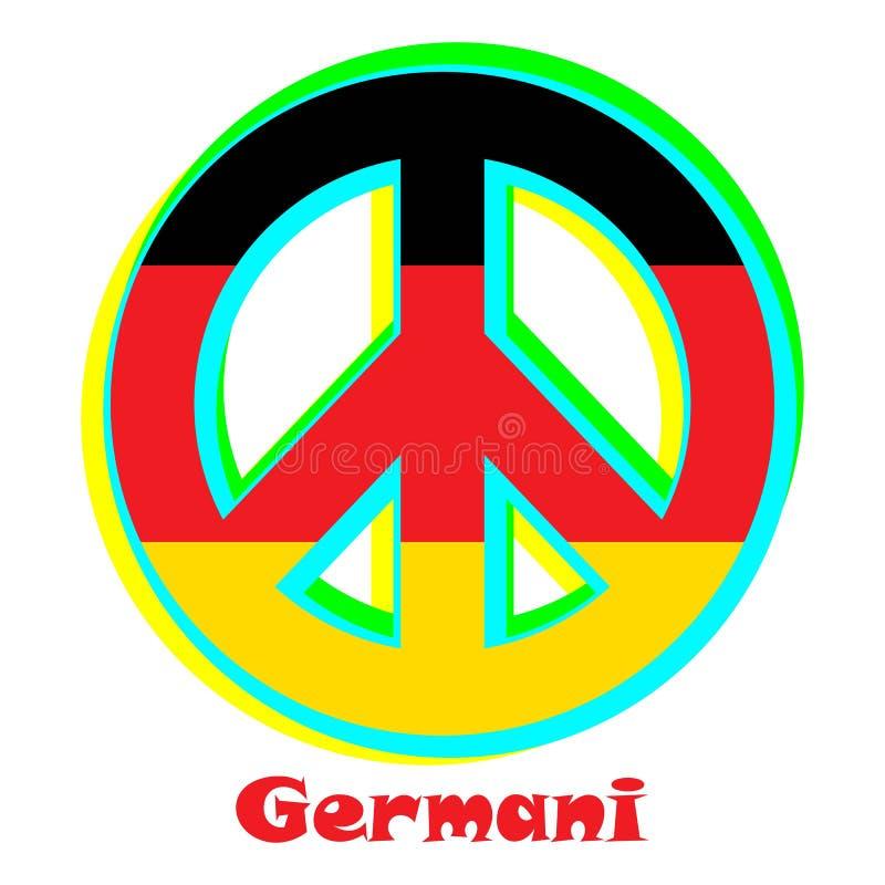 Flaga Germani jako znak pacyfizm ilustracja wektor