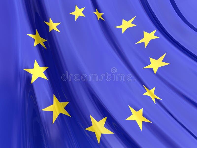 flaga glansowany europejskim ilustracja wektor