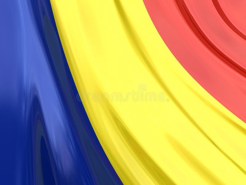 flaga glansowany Romania ilustracja wektor