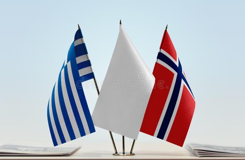 Flaga Grecja i Norwegia zdjęcie royalty free