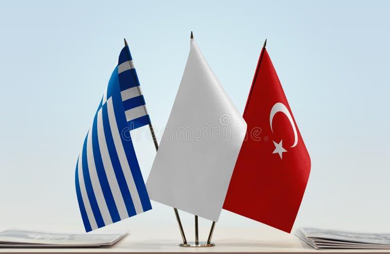 Flaga Grecja i Turcja zdjęcia royalty free