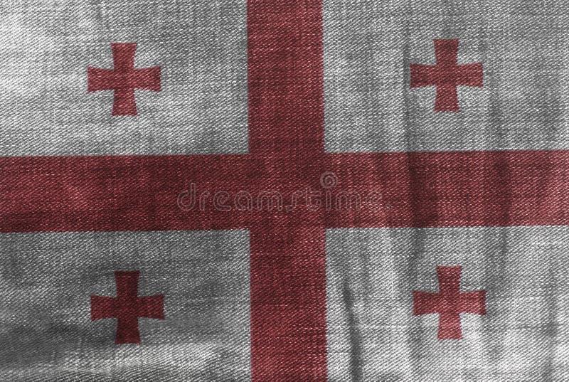 Flaga Gruzja na cajgu drelichu teksturze ilustracja wektor