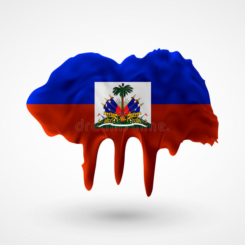 Flaga Haiti malował kolory ilustracja wektor