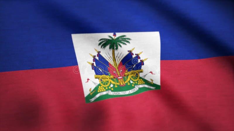 Flaga Haiti tła pętli Bezszwowa animacja Flaga Haiti falowanie w wiatrze Bezszwowy looping zdjęcie royalty free
