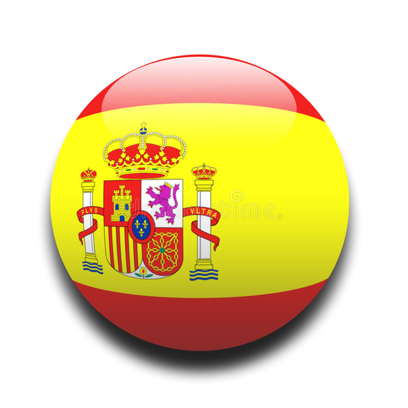 flaga hiszpańska royalty ilustracja