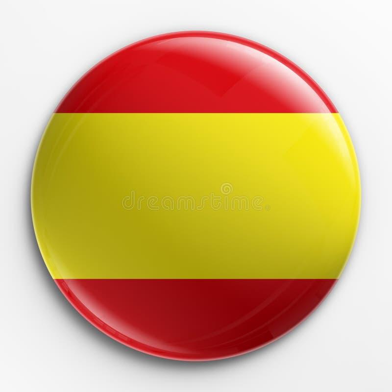 flaga hiszpańska odznaki ilustracja wektor