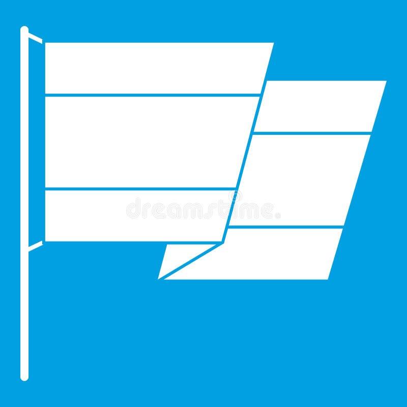 Flaga Hiszpania ikony biel royalty ilustracja