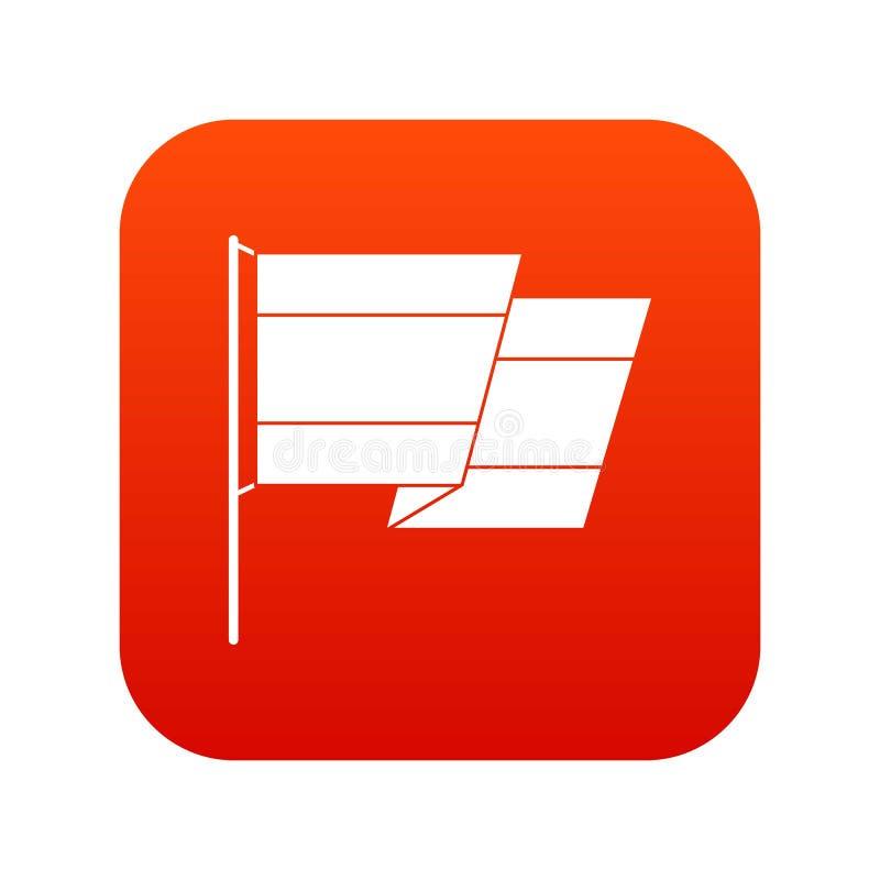 Flaga Hiszpania ikony cyfrowa czerwień ilustracji