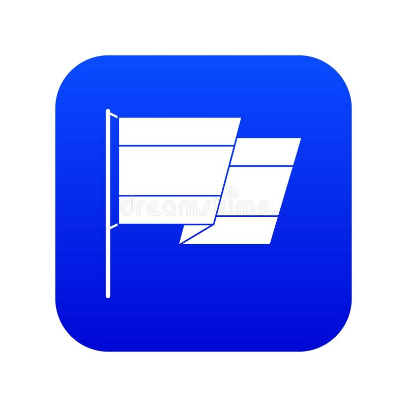 Flaga Hiszpania ikony cyfrowy b??kit ilustracji