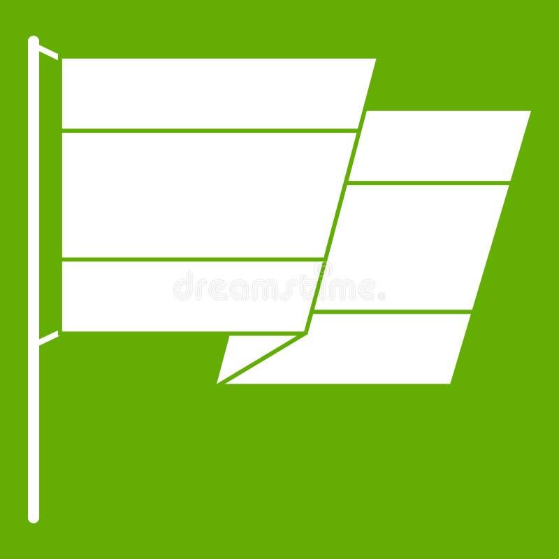 Flaga Hiszpania ikony zieleń ilustracja wektor