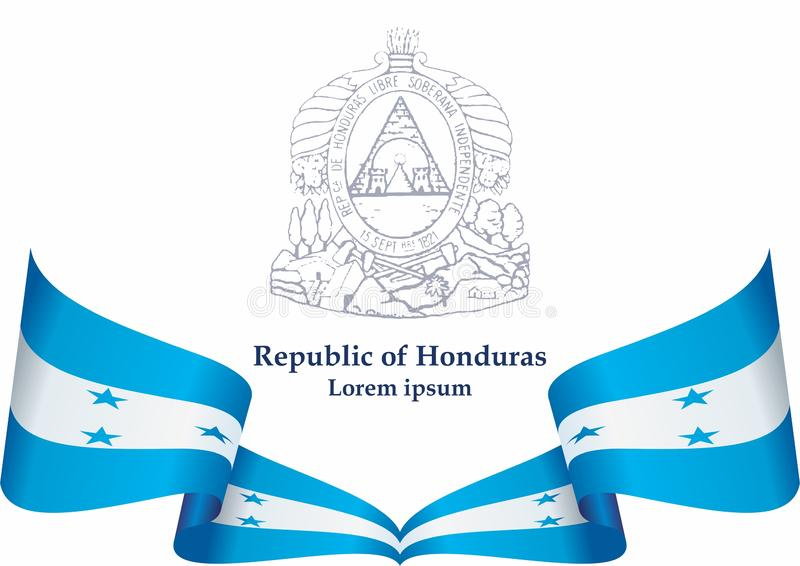 Flaga Honduras, republika Honduras Szablon dla nagroda projekta, urz?dowy dokument z flag? Honduras ilustracja wektor