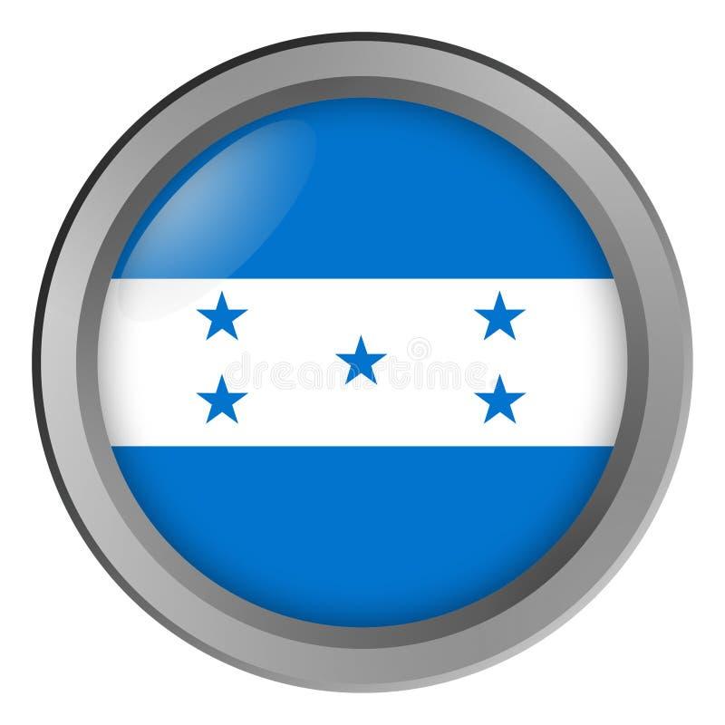 Flaga Honduras round jako guzik royalty ilustracja