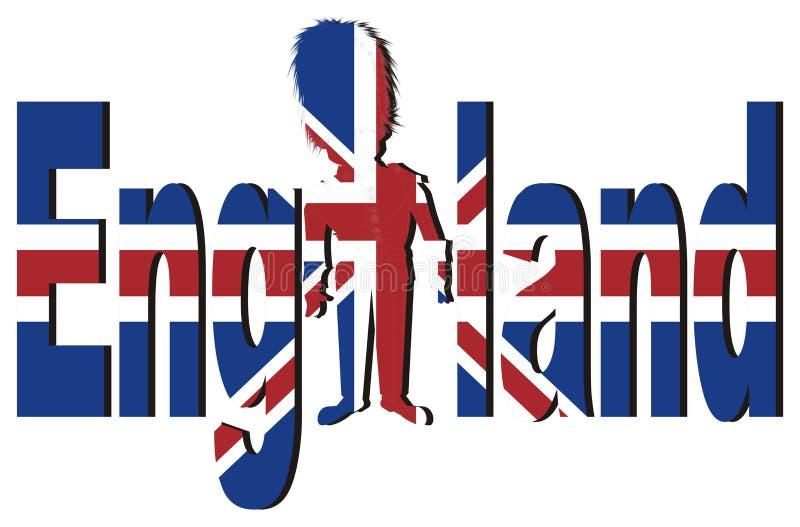 Flaga i cień Anglia ilustracji