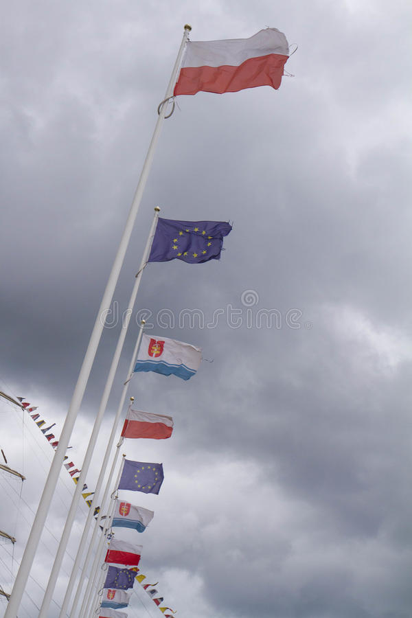 Flaga i maszt fotografia stock