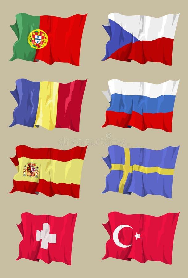 flaga ii europejskich serii ilustracji
