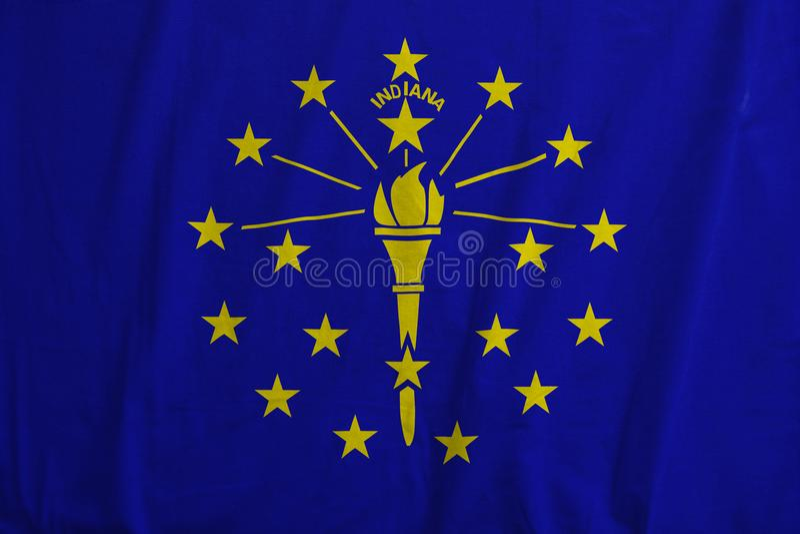 Flaga Indiana, usa falowanie zdjęcia royalty free