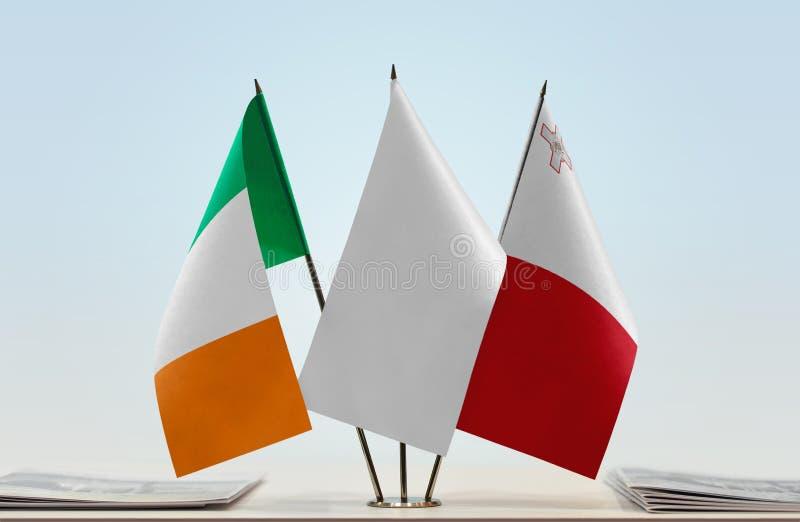 Flaga Irlandia i Malta fotografia stock