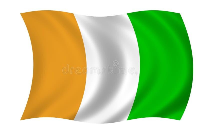 flaga ivoir cote d ilustracja wektor