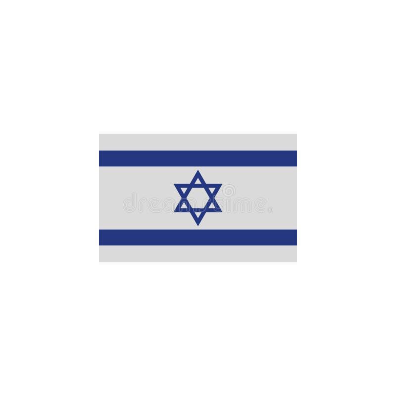 flaga Izrael barwi? ikon? Elementy flagi ilustracji ikona Znaki i symbole mog? u?ywa? dla sieci, logo, mobilny app, UI, UX royalty ilustracja