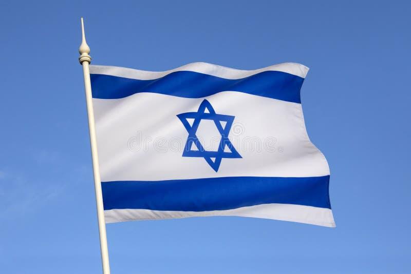 Flaga Izrael - gwiazda dawidowa obrazy stock