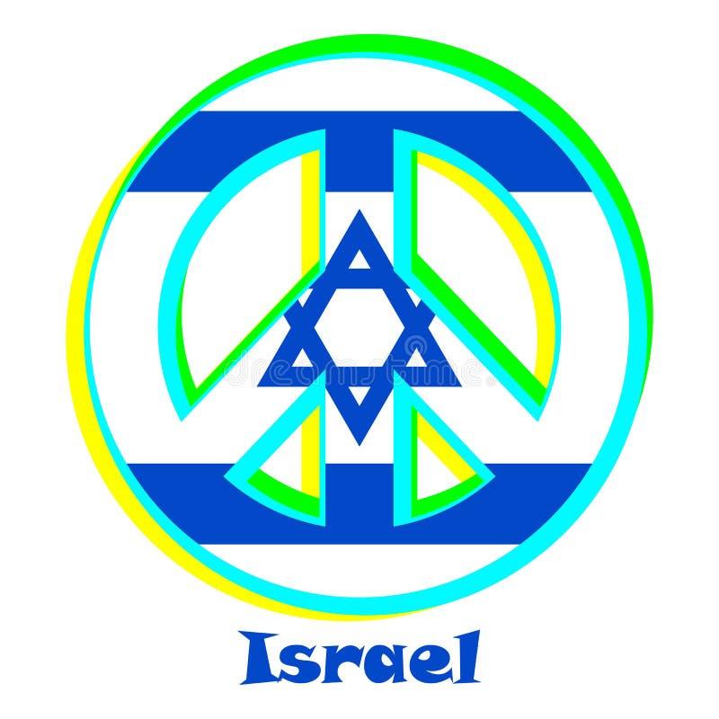 Flaga Izrael jako znak pacyfizm royalty ilustracja