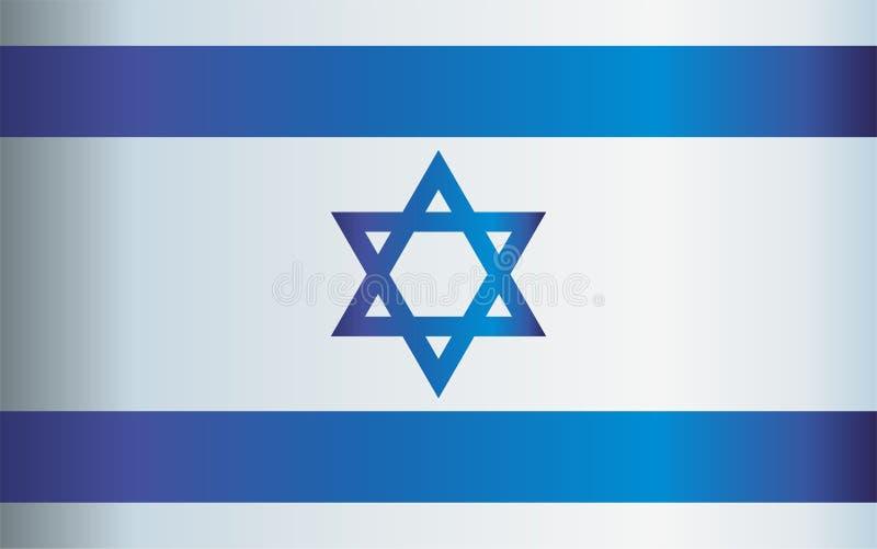 Flaga Izrael państwo izraelskie, Jaskrawa, kolorowa wektorowa ilustracja, royalty ilustracja