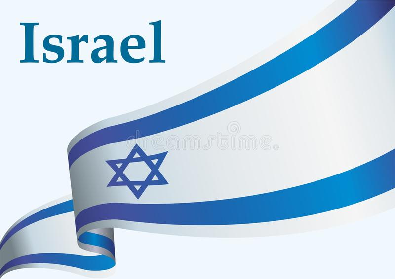 Flaga Izrael pa?stwo izraelskie, Jaskrawa, kolorowa wektorowa ilustracja, ilustracja wektor