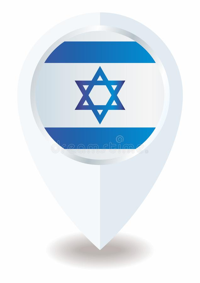 Flaga Izrael pa?stwo izraelskie, Jaskrawa, kolorowa wektorowa ilustracja, ilustracji