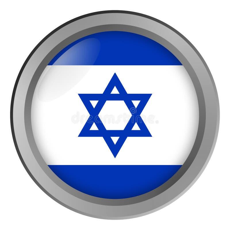 Flaga Izrael round jako guzik royalty ilustracja