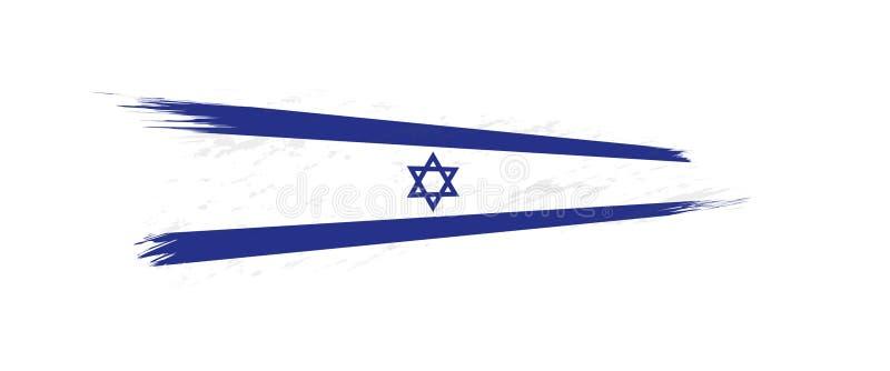 Flaga Izrael w grunge muśnięcia uderzeniu ilustracja wektor