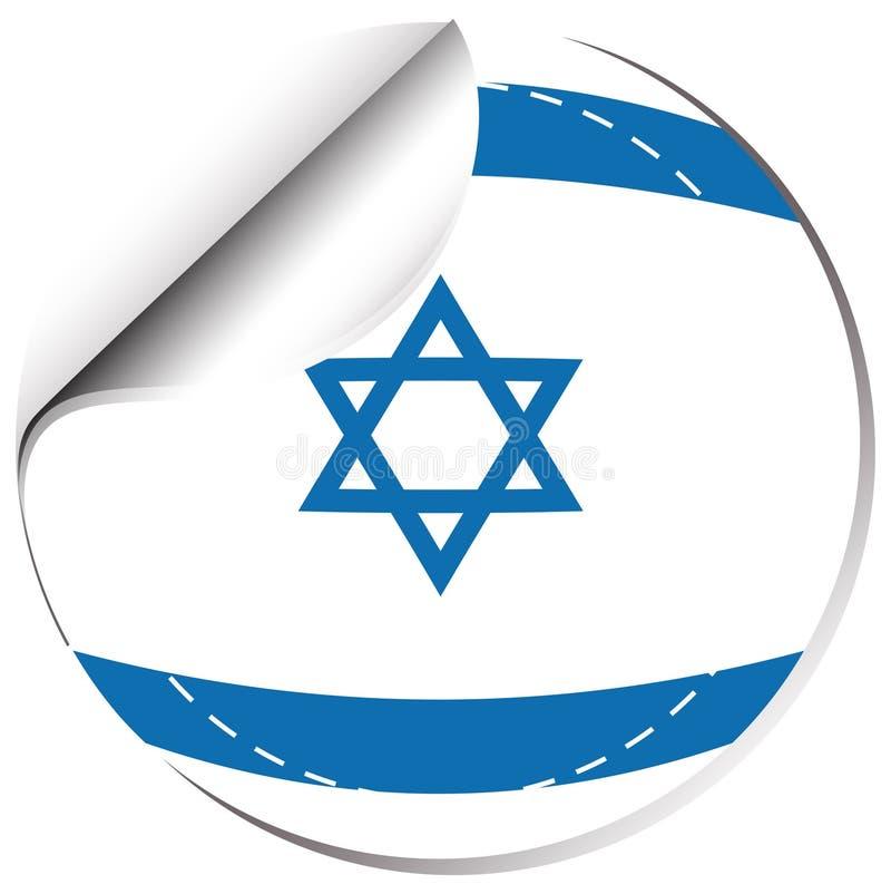 Flaga Izrael w round kształcie ilustracji