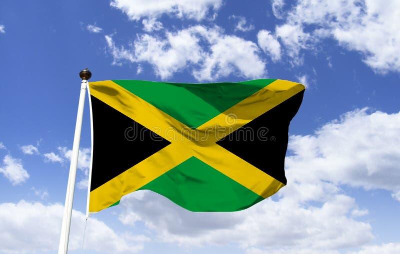 Flaga Jamajka Jamajski symbol zdjęcia royalty free