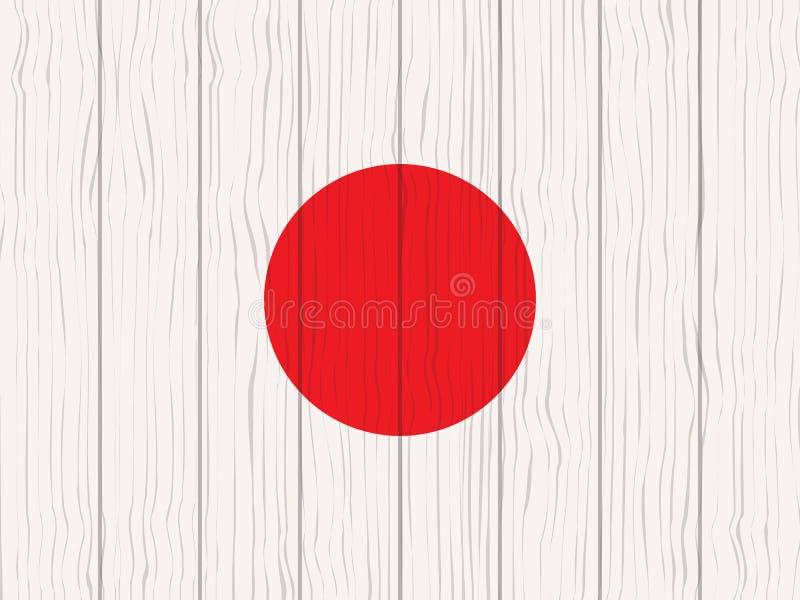 flaga Japan royalty ilustracja