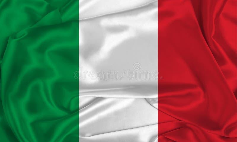 Flaga Jedwabnego Włoch obrazy stock
