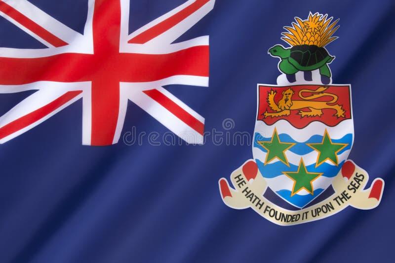 Flaga kajman wyspy - podatek przystań obraz royalty free