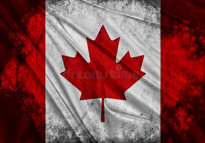Flaga Kanada royalty ilustracja