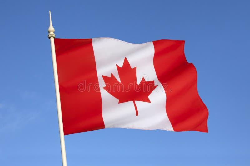 Flaga Kanada, Północna Ameryka - obrazy stock